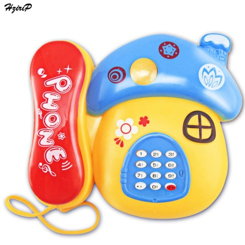 Baby-Toys-Sound-Light-Early-Childhood-0-12-Months-Cartoon-Mushrooms-Telephone-Children-Musical-Electronic-Toy